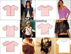 Reciclar viejas camisetas!