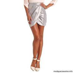 Mini faldas metálicas de moda 2014 - https://modayaccesorios.info/mini-faldas-metalicas-de-moda-2014/