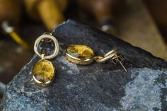 Your place to buy and sell all things handmade Gold Set, Jewerly, Cufflinks, White Gold, Drop Earrings, Trending Outfits, Natural, Unique Jewelry, Handmade Gifts