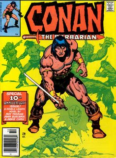 Starring Conan the Barbarian!--- Big John Buscema was born Dec. and was one of the pillars of the House of Ideas. The Marvel mainstay worked on an enormous number of characters and titles. Marvel Comic Books, Comic Books Art, Marvel Comics, Book Art, Comic Book Pages, Comic Book Covers, Caricature, Conan The Barbarian Comic, Conan O Barbaro