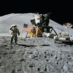 Il LEM sulla Luna durante la missione Apollo 15