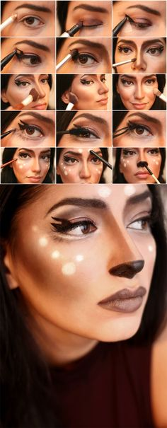 Tutorial, Makeup, Featured, Inspiration, Bambi, Deer Makeup tutorial, Halloween, Fashing Verkleidung, Idee Inspiration Costume Kostüm Verkleidung Mode süß niedlich weiblich female sweet cute brown eyes easy quick, last minute, DIY, do it yourself , step by step