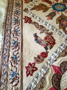 Moreen Dainty Has Made this beautiful quilt. It is a pattern by Di Ford named'Antique Wedding Sampler' -revisited. The pattern for th...