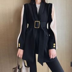 Kpop Fashion Outfits, Girls Fashion Clothes, Edgy Outfits, Suit Fashion, Korean Outfits, Cute Casual Outfits, Clothes For Women, Womens Fashion, Blazers For Women