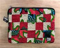 Laptop Sleeve African Handmade Bag Trashy Ad by EJAfricanProducts
