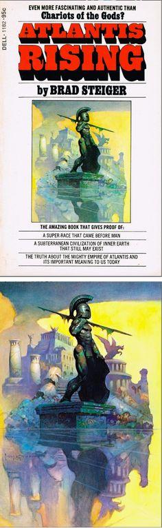 FRANK FRAZETTA - Atlantis Rising by Brad Steiger - 1973 Dell Books - print/cover by capnscomics.blogspot.com