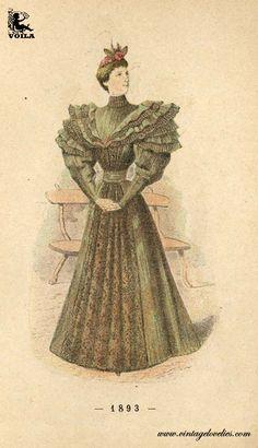 1893 Women's Fashion, Painting, Art, Art Background, Fashion Women, Womens Fashion, Painting Art, Kunst