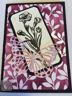 Stampin´UP! jennys_Stempelwelt  Karte mit dem Designpapier Zauberhaft und dem Set Schmetterlingsgruß