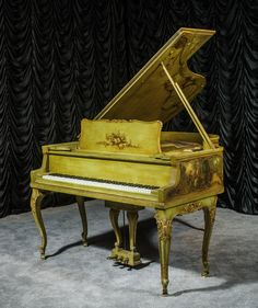 Neoclassical Decorated Louis XV Knabe Parlor Grand Piano | The Antique Piano Shop