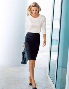 Ein Businessrock, der Ihren femininen Auftritt mit souveräner Eleganz unterstreicht.