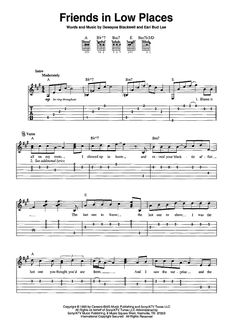"""""""Friends in Low Places"""" Sheet Music: www.onlinesheetmusic.com"""