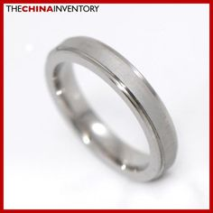 3.5MM SIZE 6 MATTE STAINLESS STEEL BAND RING R2701B