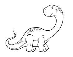 Dinosaurio para colorear  Colorear  Pinterest  Kirigami