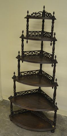 Victorian Etegere With 6 Shelves Which Increase In Size