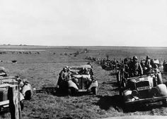 Vehicles of the German 4th Panzer Division in France, 17 May 1940