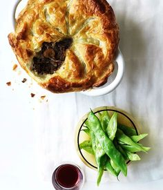 Australian Gourmet Traveller recipe for beef, mushroom and red wine pie