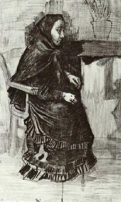 Woman in a Dark Dress (Sien's Mother) - Vincent van Gogh