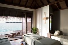 Visit our award winning Maldives spa where the passion for well-being is combined with the power of nature for a truly restorative wellness experience. Treatment Rooms, Spa Treatments, Spa Design, Wellness Spa, Maldives, Restoration, Google, Home Decor, Collection