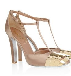 Ankle strap pumps by Yves Saint Laurent.