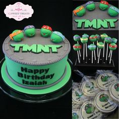 Cowabunga Dude! TMNT Cake - by cjsweettreats @ CakesDecor.com - cake decorating website
