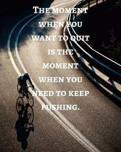 Curtam nossas redes sociais Facebook, Instagram, Pinterest e Telegram    O momento em que você quer parar é o momento em que você precisa continuar mesmo que empurrando    #bike #ciclismo #mtb #cycling #alemdopedal