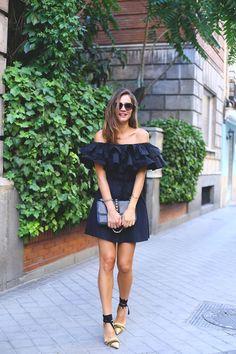 black frills looks - Lady Addict