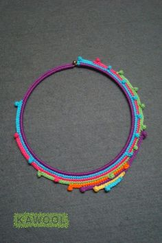 Kawool - crochet necklace