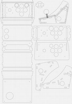 2台目 Nexus7用ゲームコントローラー | Arcade Cabinet Diy Arcade Cabinet, Bartop Arcade, Arcade Machine, Room Planning, Old Games, Arduino, Projects To Try, How To Plan, Retro