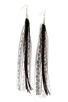 Leather and Lace earrings from hottopic.com