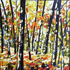 Painted Paper by Holly: Dappled Fall