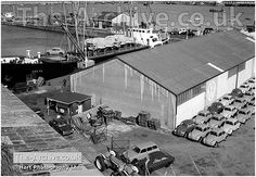 A photograph of new VW Beetles in storage at The Port of Ramsgate & The…