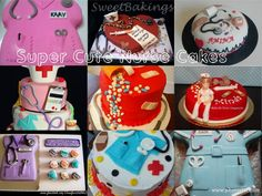 Super cool nursing cakes!! Want for my graduation next year :P