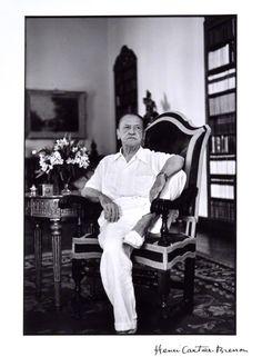 Author William Somerset Maugham, portrait by Henri Cartier-Bresson. (1951) National Portrait Gallery, London.