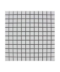 Pool Matt White 23x23mm Mosaic Tile
