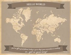 Black friday sale travel lover gift highly detailed map poster black friday sale travel lover gift highly detailed map poster large world map with cities 3 panels world map print gold map map151 027 pinterest gumiabroncs Images