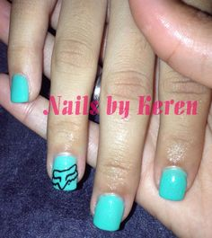 FOX Nail Design - thinking of doing something like this for monster jam in vegas next weekend!!!