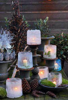 Eis-Laterne zaubern eine tolle Atmosphäre in den winterlichen Garten – und sind einfach gemacht. Unser DIY zeigt, wie es geht.