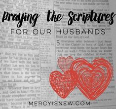28 Verses to PRAY for our HUSBANDS! Free printable LOVE NOTES too!
