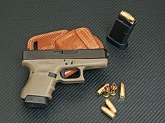 The Concealed Carry Glock 36 ACP, a sub-compact big-bore, is a concealed carry ace-in-the-hole! Glock Guns, Weapons Guns, Guns And Ammo, Tactical Life, Tactical Gear, Home Defense, Self Defense, Airsoft, 45 Acp