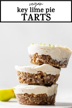 Healthy Dessert Recipes, Vegan Desserts, Healthy Bars, Breakfast Recipes, Paleo Baking, Baking Recipes, Paleo Recipes, Vegan Key Lime Pie, Cashew Cream