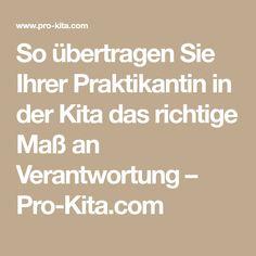 So übertragen Sie Ihrer Praktikantin in der Kita das richtige Maß an Verantwortung – Pro-Kita.com