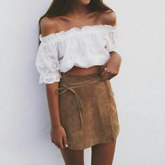 37 new ideas skirt outfits for teens boho Boho Outfits, Boho Summer Outfits, Summer Outfits For Teens, Teenage Outfits, Dresses For Teens, Dress Outfits, Fashion Outfits, Summer Dresses, Brown Skirt Outfits