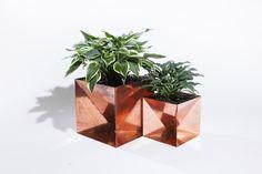 Trey Jones Copper Origami Planter | sightunseen.com
