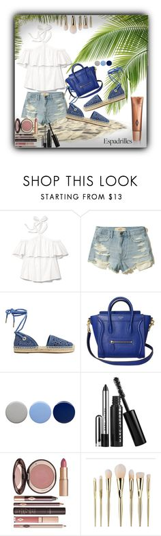 """Espadrilles"" by sabine-713 ❤ liked on Polyvore featuring Rebecca Taylor, Hollister Co., MICHAEL Michael Kors, Burberry, Marc Jacobs and Charlotte Tilbury"