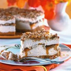 Butter Brickle Frozen Delight - It is a very rich dessert with layers of butter brickle, caramel sauce, and a rich layer of cool whip & cream cheese.