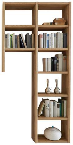 REGAL in 93,4/196,2/21 cm Eichefarben online kaufen ➤ XXXLutz Bookcase, Shelves, Home Decor, Oak Tree, Shelf, Sitting Rooms, Timber Wood, Shelving, Decoration Home