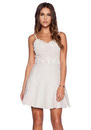KAS New York Amira Mini Dress em Marfim   REVOLVE