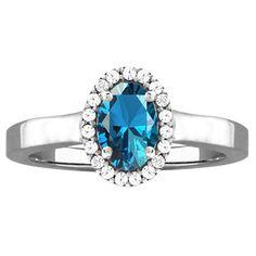 10k White Gold Designer Gemstone and Cubic Zirconia Birthstone Ring (Size 6.0 Feb Amethyst), Women's, Purple