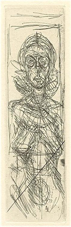 Annette de Face, 1956,  Alberto Giacometti