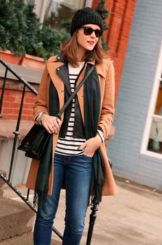 Moto under coat - could make it CAbi :) Vintage Spring '13 new stripe tee,fall '13 Moto jacket & fall '12 camel trench with a great CAbi jean - brando,ruby or blue moon  Love all the CAbi options !